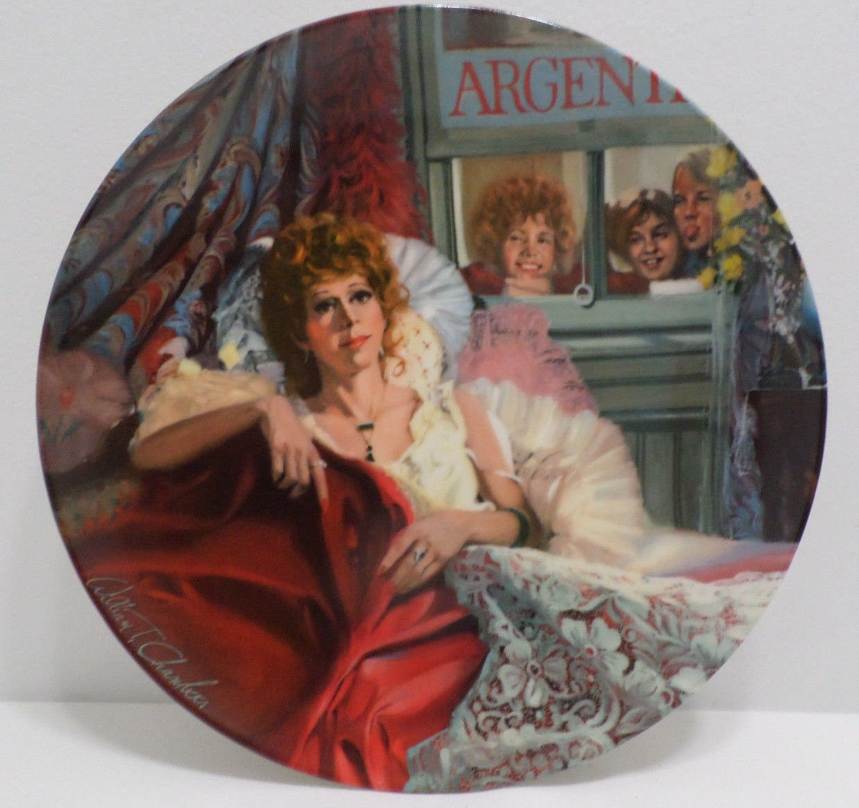 Collector's Plate  Annie and Miss Hannigan by William Chambers Porcelain