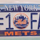 Collector License Plate New York Mets Number 1 Fan Metal 2005 MLB New in Package