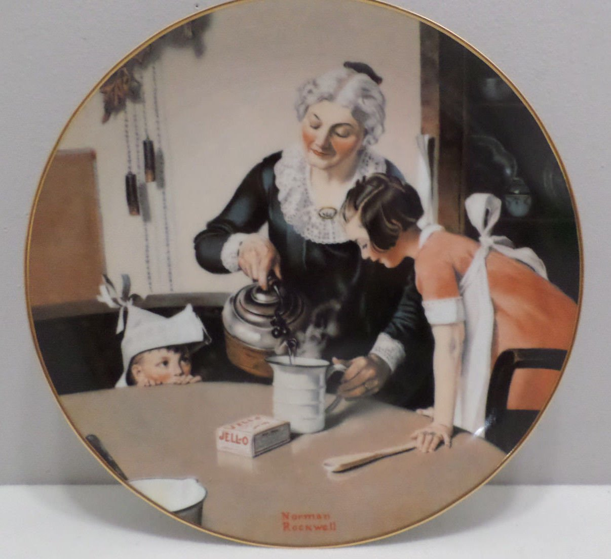 1985 Collector Plate Mom's Special Treat by Norman Rockwell Gentle Memories