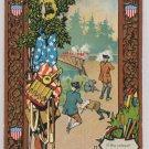 Antique Patriotic Postcard United States Flag Embossed Unposted Divided