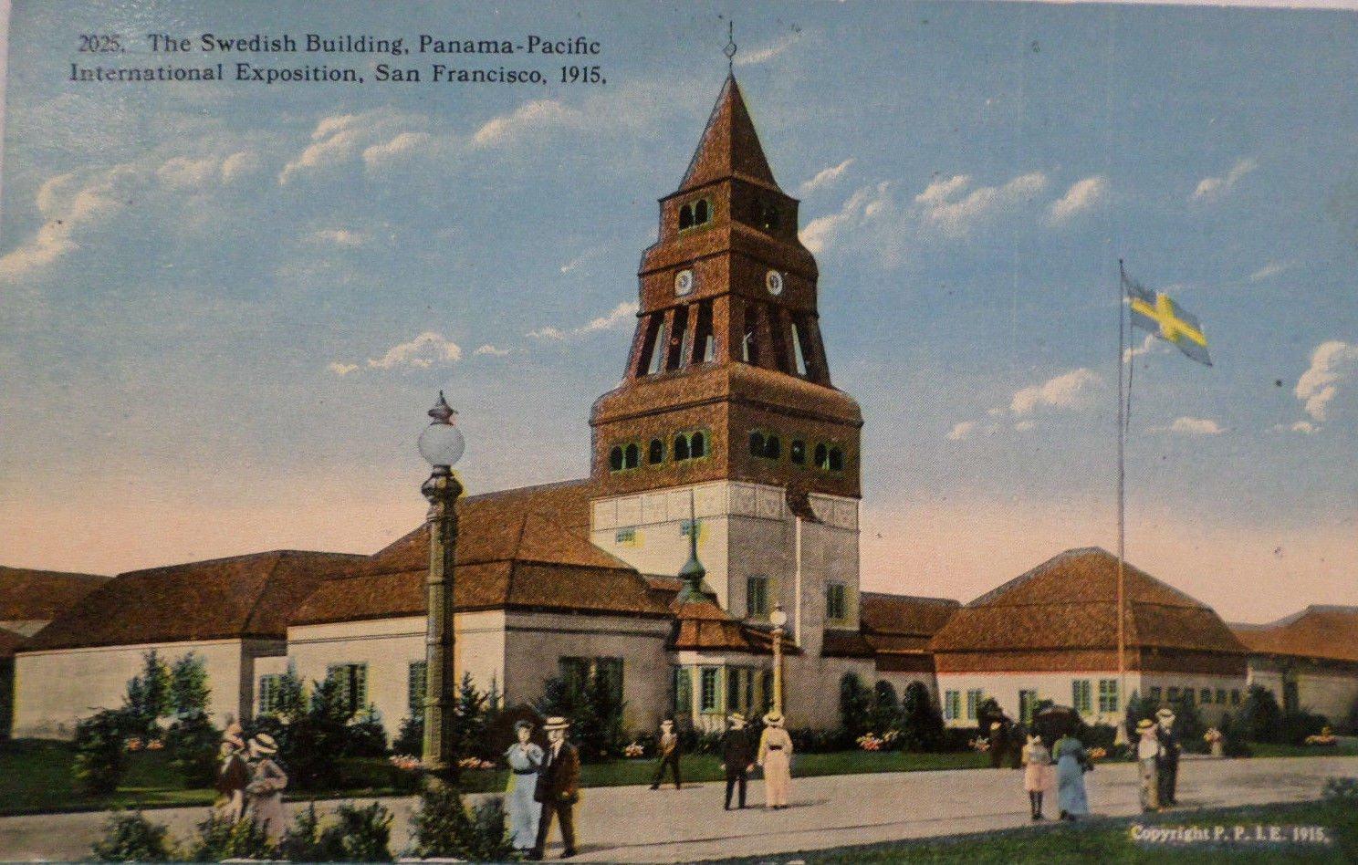 Antique Postcard Pan Pacific Intl Expo San Francisco The Swedish Building