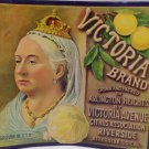 Vintage Crate Label Victoria Brand Victoria Avenue Citrus Association Original