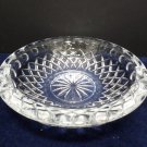 Ashtray Clear Crystal with Geometrical Design Vintage made in Indonesia