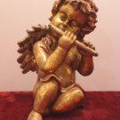 Christmas Angel Figurine Seymour Mann gold Tone Ceramic