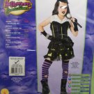 Halloween Costume Goth Rock Star Girl Size Medium 8-10 Halloween Sensations