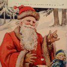 Christmas Postcard Santa Claus Fixing Toys Undivided Unposted