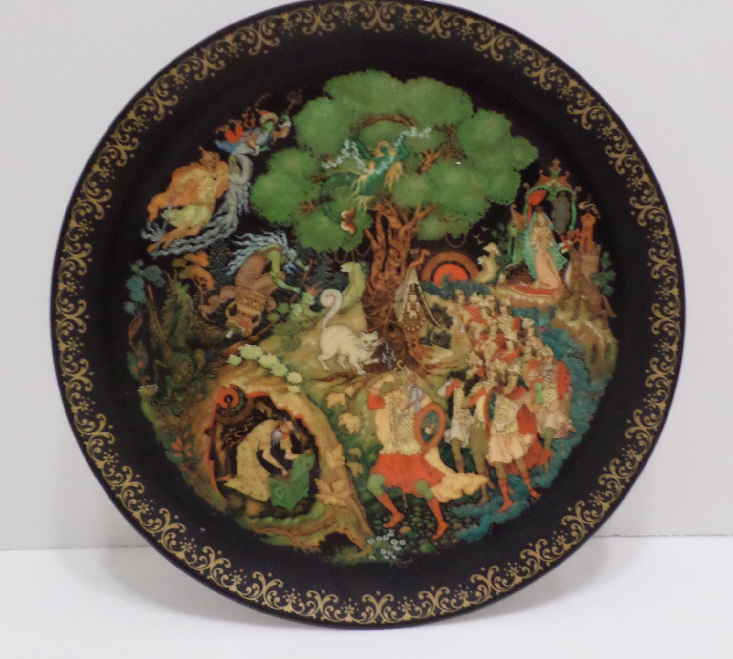 Collector Plate Lukomorya 4th in Russian Legends Collection Bradford Exchange