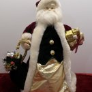 Christmas Tree Topper Bisque Santa Claus Red Velvet Suit
