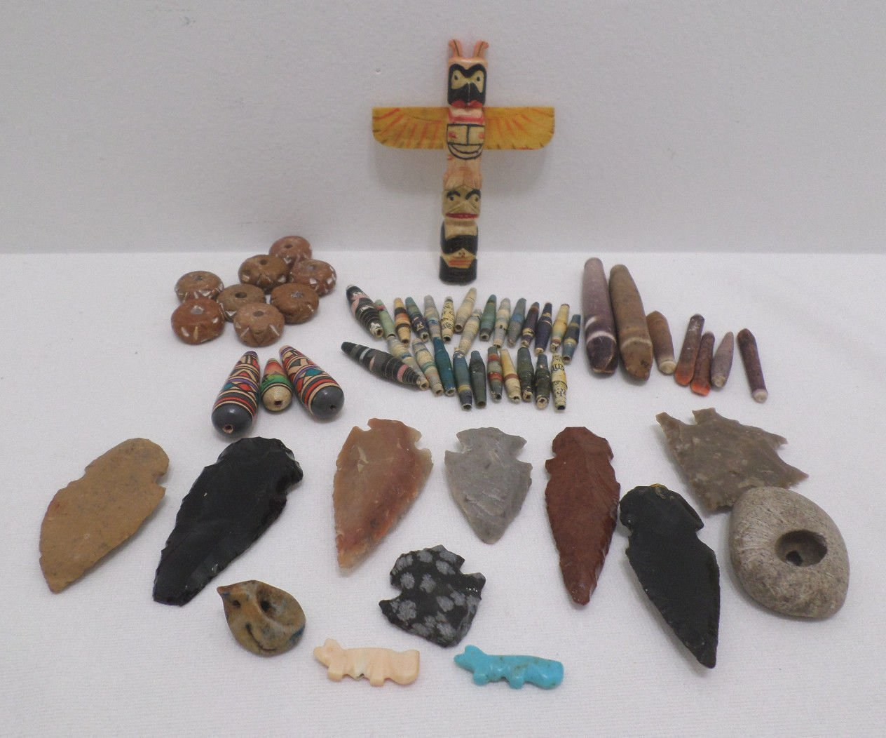 Southwestern Totem Pole Beads Arrow Heads findings