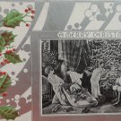 Christmas Postcard  Santa Claus and Holly Berry  Silver  Embossed  Posted