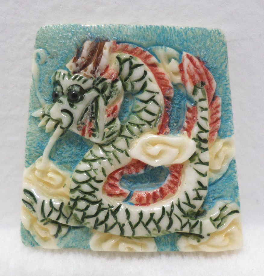 Antique Japanese Charm Year of the Dragon Porcelain