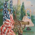 Antique Patriotic Postcard U.S. Flag Posted