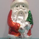 Antique Christmas Tree Ornament Mercury Glass Santa Claus holding a Tree Germany