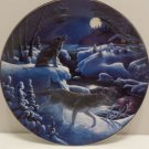 1993 Collector Plate Song to the Night by Don Ningewance Bradford Exchange