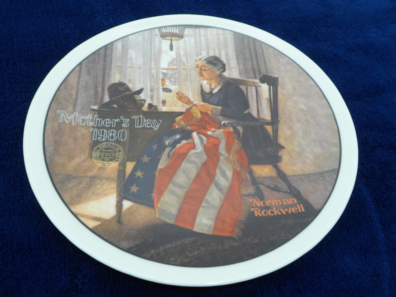 1980 Collector Plate Mothers Day by Norman Rockwell  Limited Edition Knowles