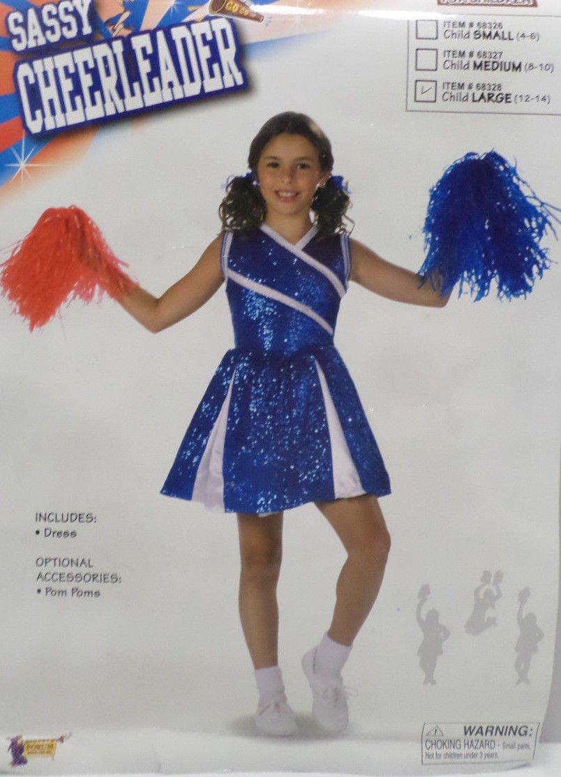 Halloween Costume Sassy Cheerleader girls Size Large 12-14 by Forum Novelties