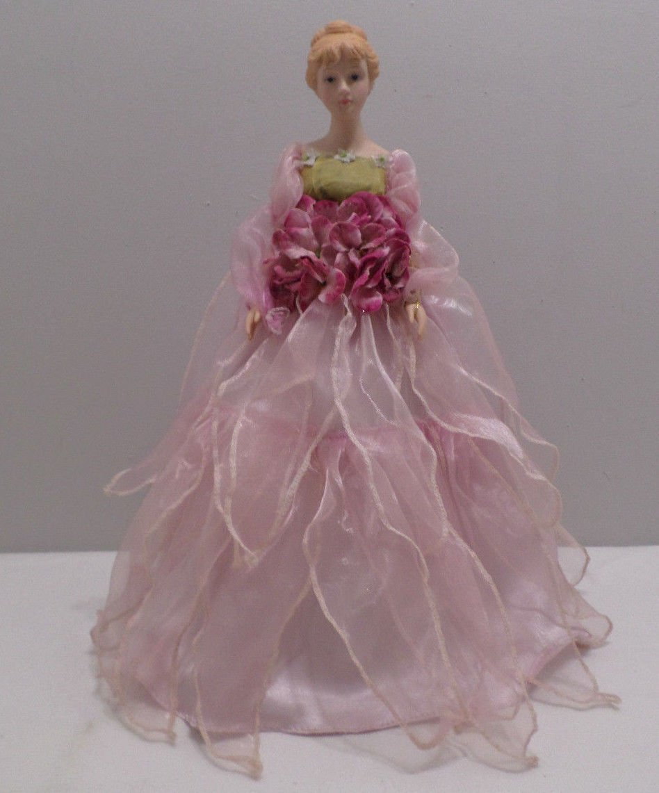 """Christmas Tree Topper Lady with Plastic Head and Hands 16"""" Tall"""