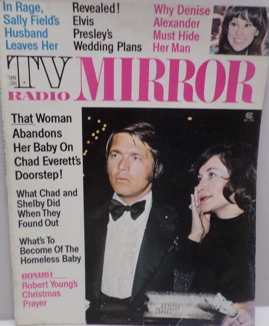 TV Radio Mirror Magazine January 1974 Elvis Presley Sally Fields Chad Everette
