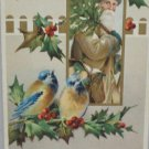Antique Christmas Postcard Santa Claus Dressed in Brown Carrying Tree