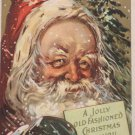 Antique Christmas postcard Santa Claus unposted divided