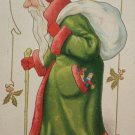 Christmas Postcard Santa Claus Dressed in Green Robe Raphael Tuck & Sons