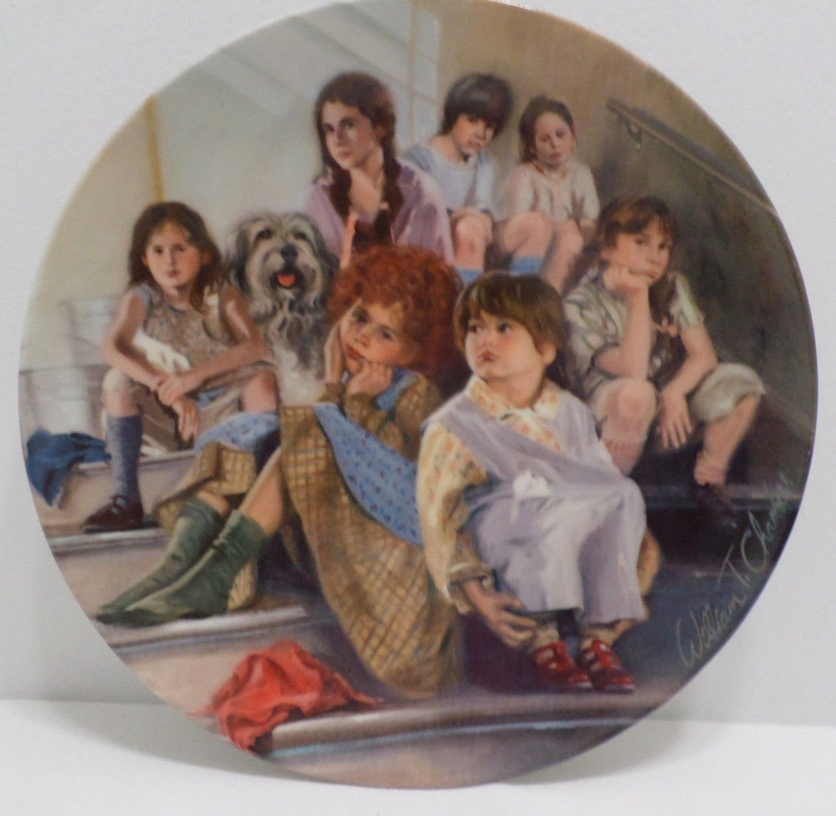 Collector Plate Annie and The Orphans by William Chambers Annie Series