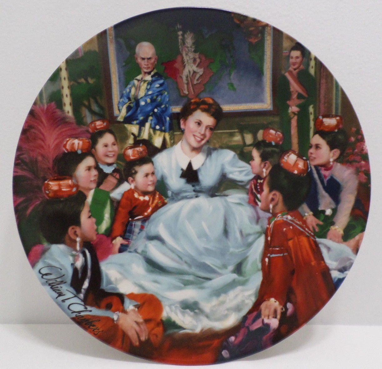Collector Plate The King and I Getting to Know You by William Chambers Porcelain