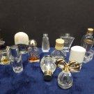 Vintage Perfume Bottles Clear Glass Empty 13 Bottles
