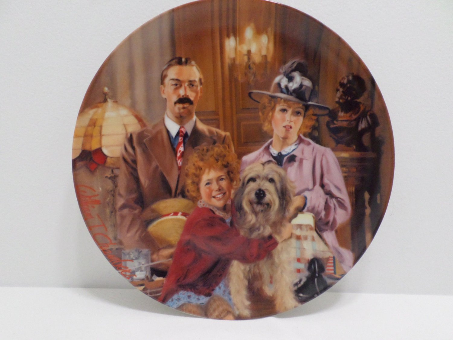 Collector's Plate Annie Lily and Rooster by William Chambers 1983