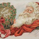 Christmas Postcard Santa Claus Embossed Posted Divided made in Germany