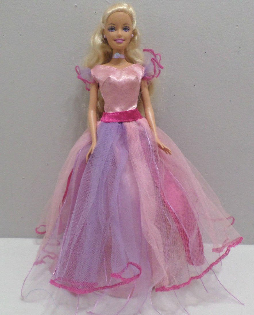 Barbie Doll evening Gown pink and purple