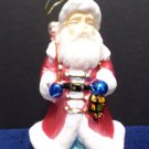 Vintage Christmas Tree Ornament Glass Santa Claus