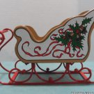 Midwest Wooden Christmas Sleigh with Red Metal Runners