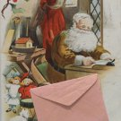 Antique Christmas Postcard Santa Claus Undivided Posted 1907