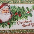 Christmas Postcard Santa Claus Embossed Unposted Divided made in Germany