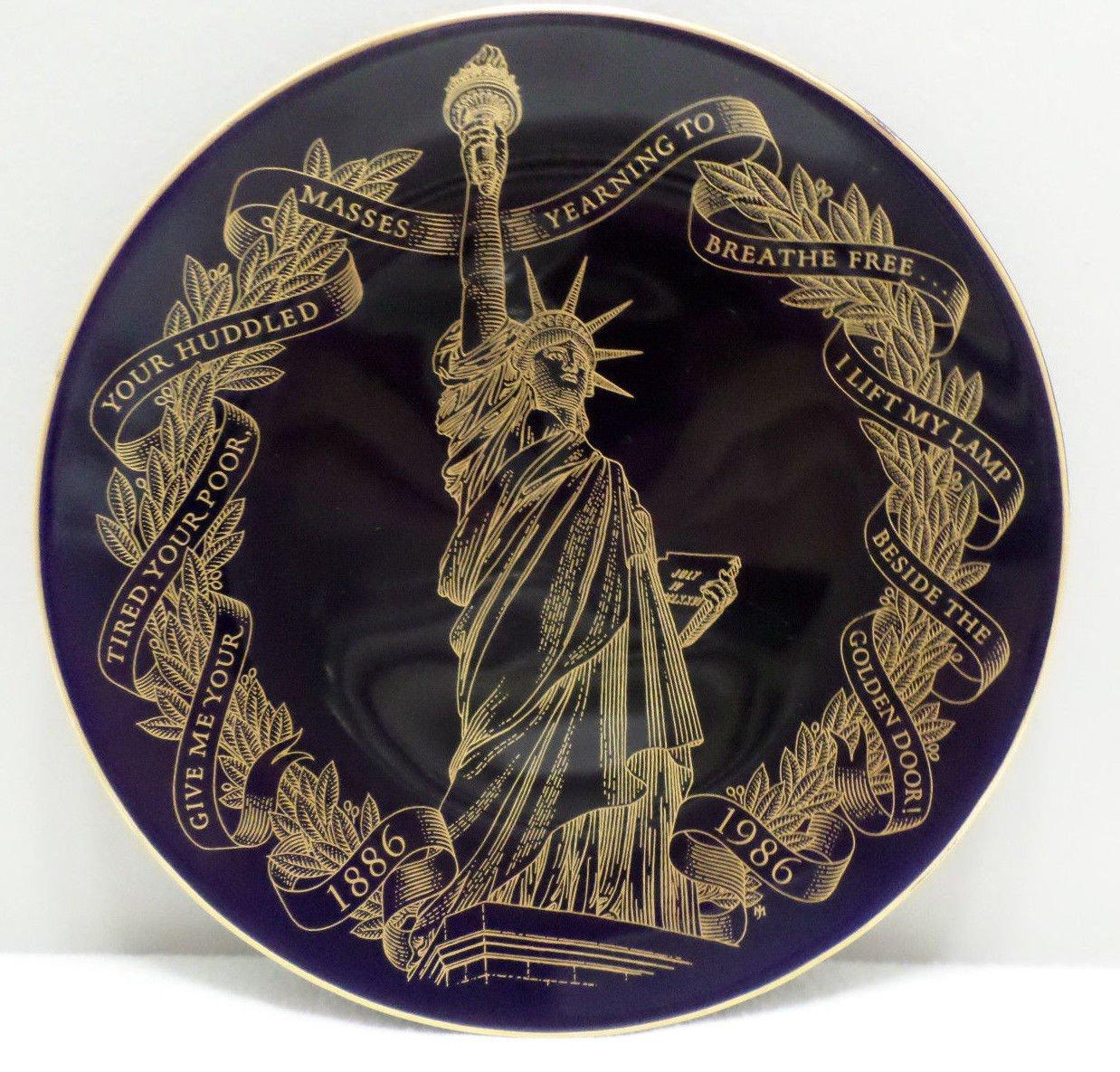 Collector Plate The Statue of Liberty Centennial by Jeffery Mathews
