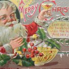Antique Christmas Postcard Santa Claus St. Nicholas Series 2 Embossed