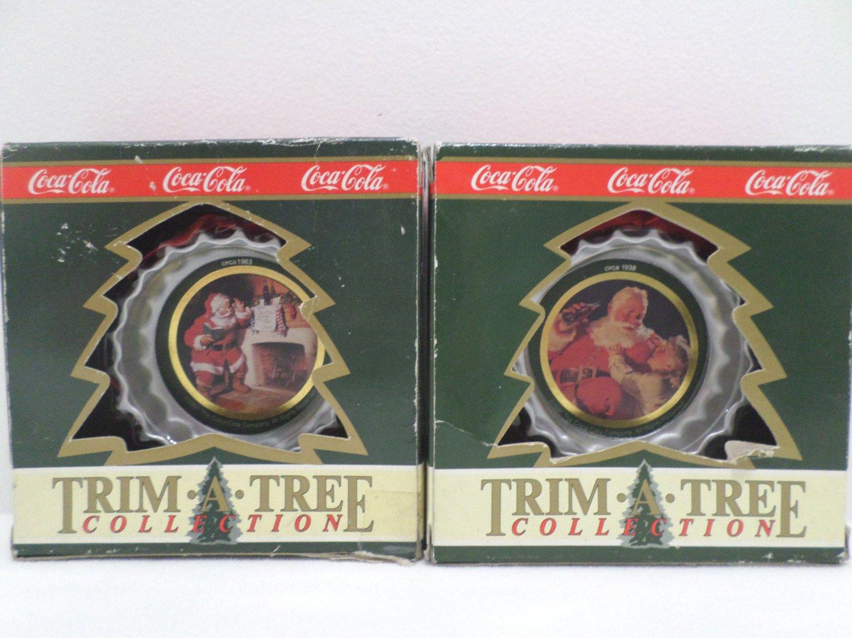 Christmas Tree Ornaments Coca Cola NIB Set of Two