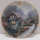 Collector Plate Chandler's Cottage by Thomas Kinkade July #14513B Simpler Times