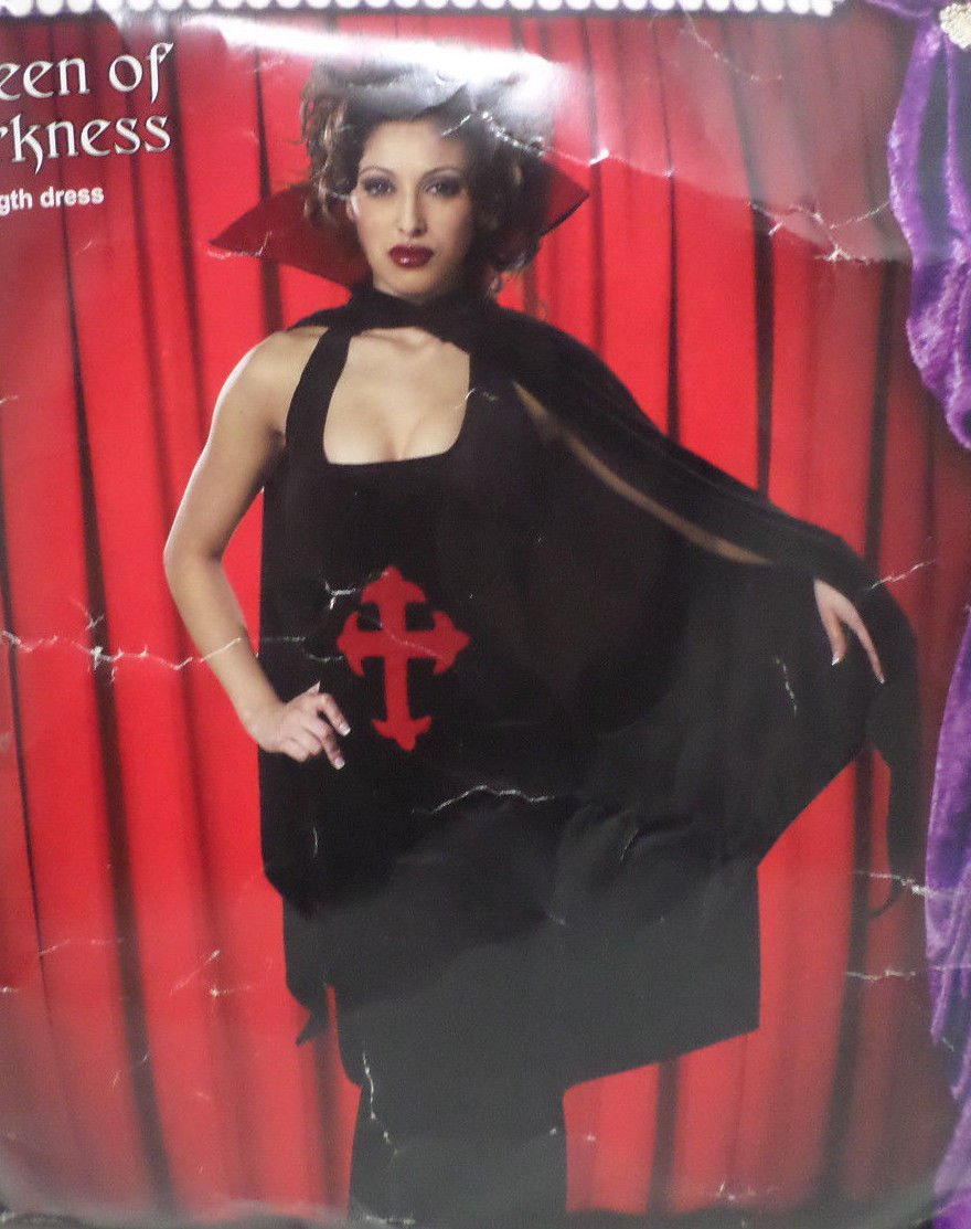 Halloween Costume Queen of Darkness Adult Women size XL by Cinema Secrets