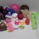 Large Lot of Barbie Doll Accessories Hats, visors, glasses, purses, 29 items