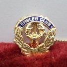 Emblem Club 106 Sweater Pin Gold Tone Metal