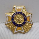 Vintage Auxiliary Veterans of Foreign Wars Pin Gold Tone Metal