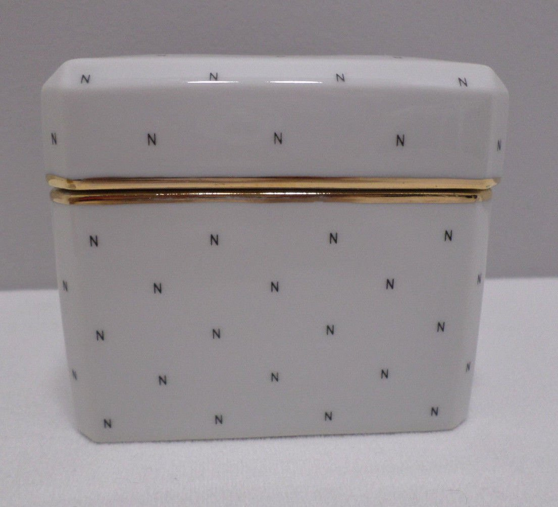 Vintage Powder Box Norell Porcelain Perfume Norell Seto Japan Square