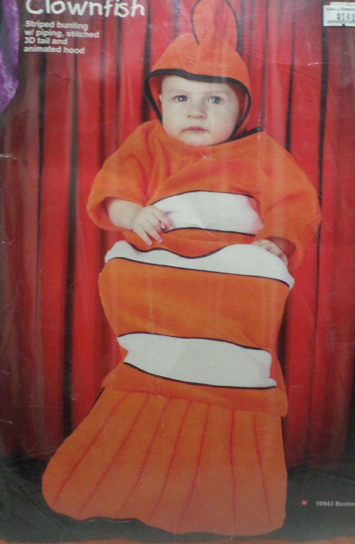 Halloween Costume Baby ClownFish Size Infant 12-18 Months by Cinema Secrets