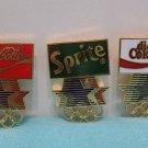 1984 Los Angeles Olympics Collector Pins Coca Cola Sprite Diet Coke