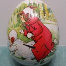 Vintage Metal Easter Egg Candy Container Designed by Ian Logan Switzerland