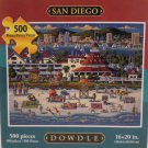 Jigsaw Puzzle Dowdle Folk Art San Diego 500 pieces 16 x 20 New in Box