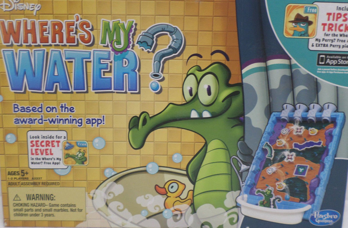 Disney Game Where is My Water for ages 5 yrs on up