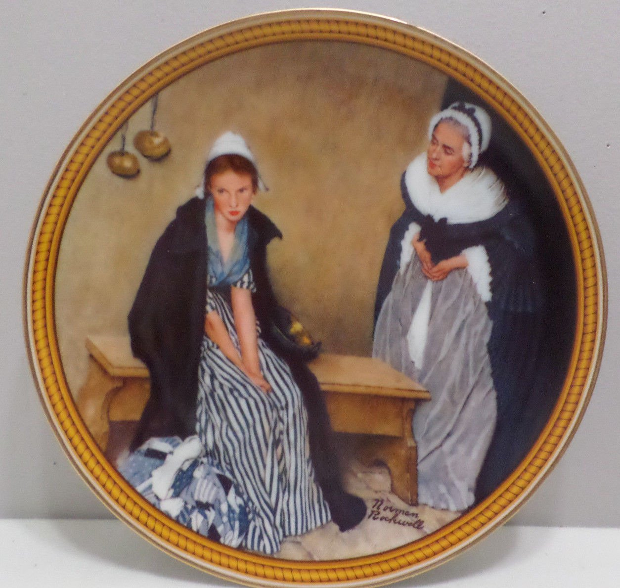 1986 Collector Plate Words of Comfort by Norman Rockwell Bradford Exchange